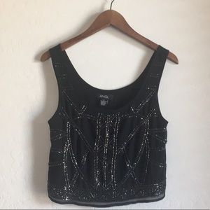 Sequin and Bead Detailed Tank Top (s)